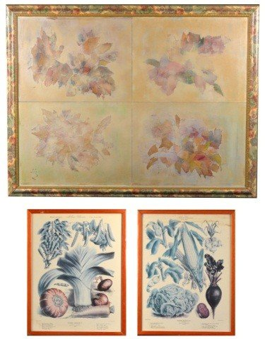 3: Group of Three Floral Prints