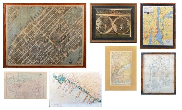 7: Miscellaneous Group of Vintage Maps