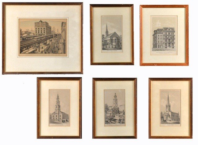 8: Miscellaneous Group of Six Engravings