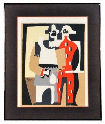 18: Pablo Picasso (Sp. 1881-1973) Deux Arlequins