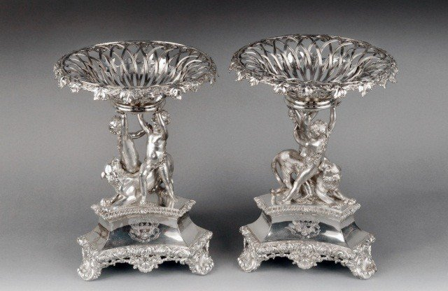 131: Pair of George III Silver Dessert Stands