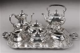 160: Rococo Style Gorham Silver Plated Tea Service