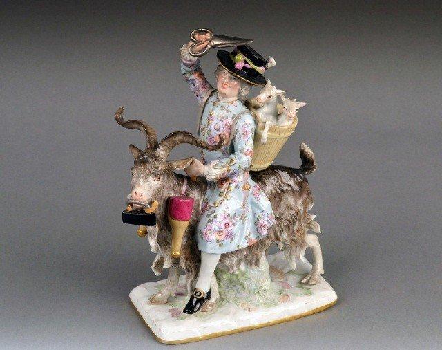 508: Meissen Porcelain Figure Count Bruhl's Tailor   *
