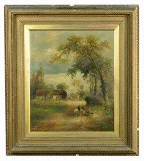 9: David Payne (Brit, 19th c.)  Village Gossip
