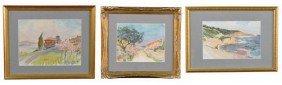 12: P.L. Salvan    Three Watercolors