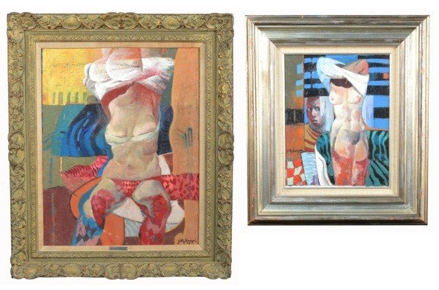 13: Getty Bisagni (It, 1931)  Two Paintings of Women