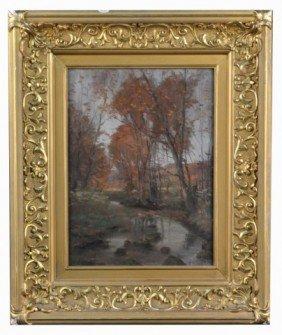 19: Arthur Mitchell (Am, 1886-1977)  Fall Landscape