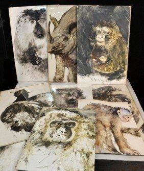 20: Miriam H. Beerman (Am, b. 1923)  Animal Paintings