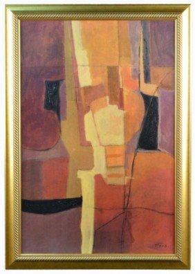 21: Fara (20th c.)  Orange Abstract