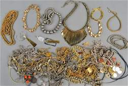 263 Miscellaneous Group of Gold Tone Jewelry