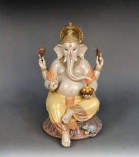 545: Lladro Lord Ganesha Porcelain Figure