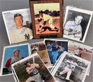 671: Group of Vintage Autographed Baseball Photographs