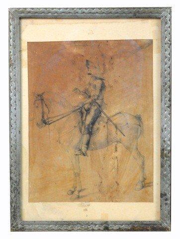 9: Albrecht Dürer (Ger, 1471-1528)  Knight on Horse