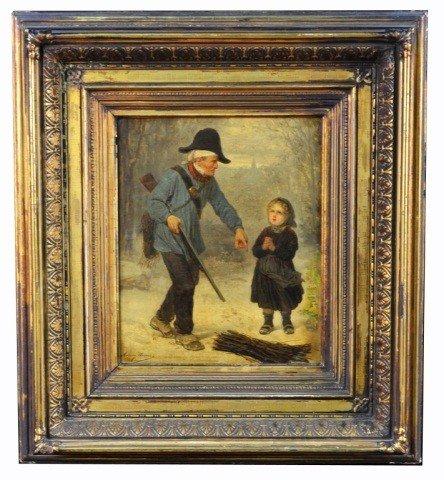 11: Antony Serres (Fr, 1828-1898)  Hunter and Child