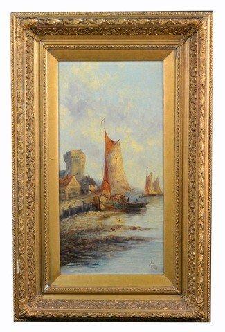 12: J. Bale (Brit, 19th c.)  Sailboats