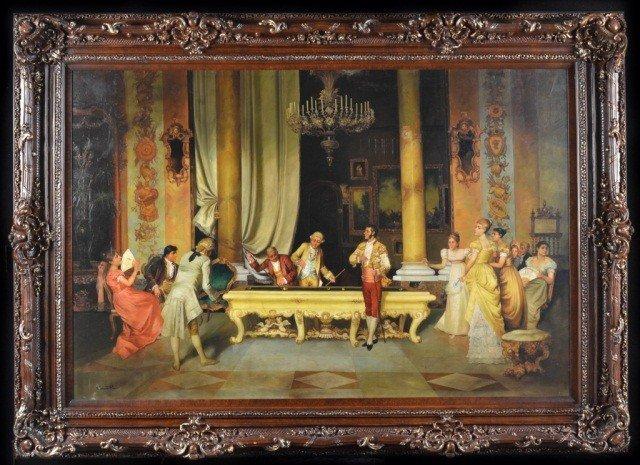 13: European School  Game of Billiards