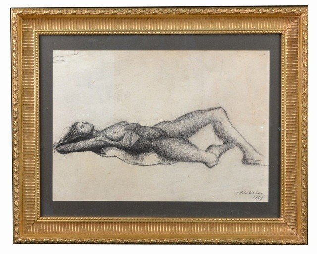 19: P. Tchelitchew (Russian, 1898-1957)  Reclining Nude