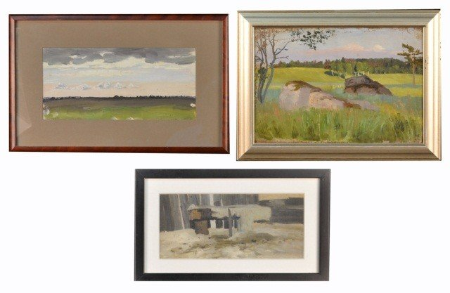 21: Yuri Pavlovich (Uk, Rus 1872-1947) Three Landscapes