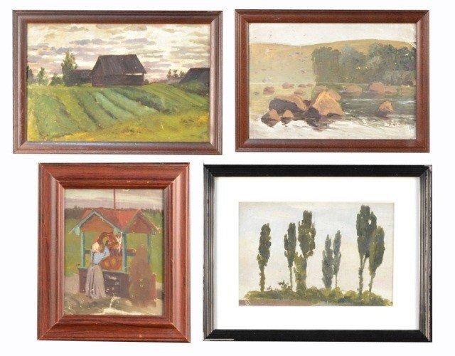 22: Yuri Pavlovich (Ukr, Rus 1872-1947) Four Paintings