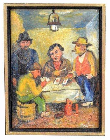 24: David D. Burliuk (Rus, Am, 1882-1967)  Card Game