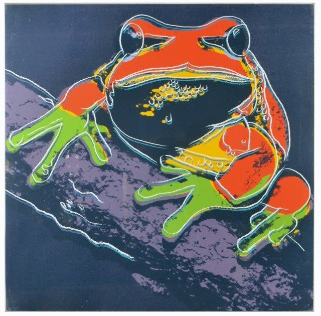 69: Andy Warhol (Am. 1928-87)  Pine Barrens Tree Frog *