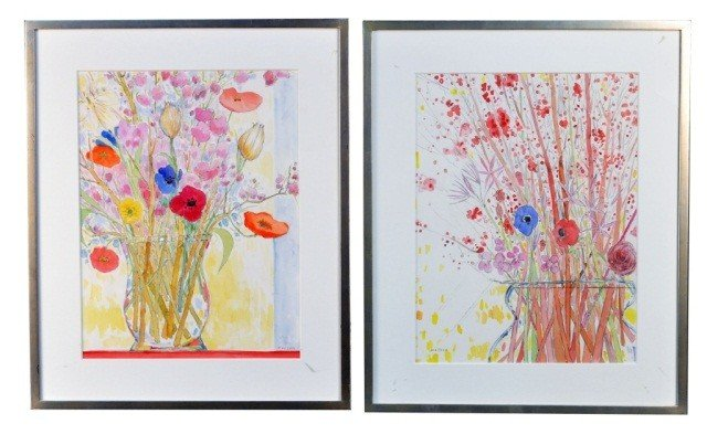 Two Floral Still Life Paintings