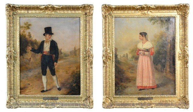 G. Thomas (20th c.)  Two Portraits