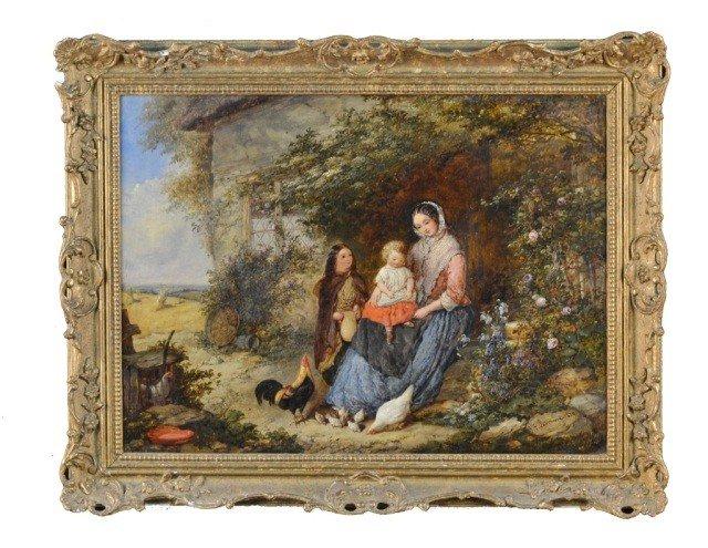 Italian School (19th c.)  Women on a Farm