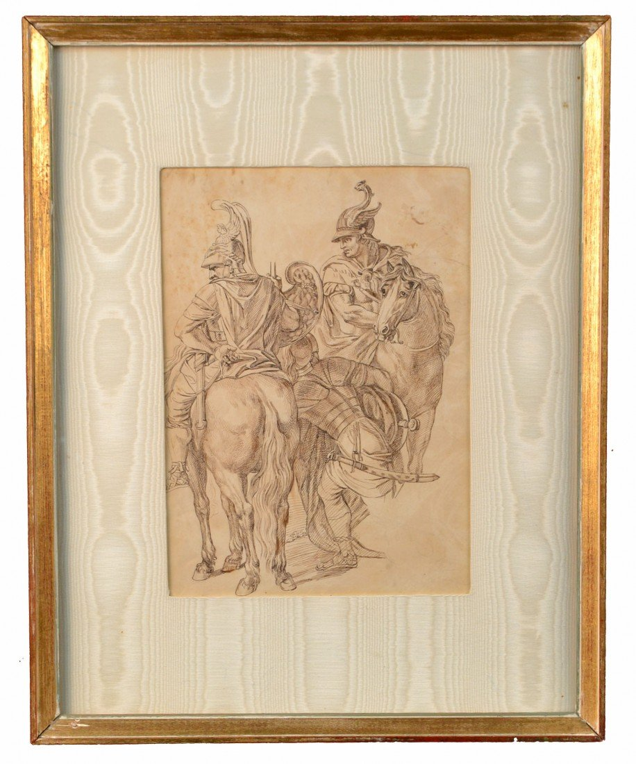 Old Master Drawing of Three Centurions