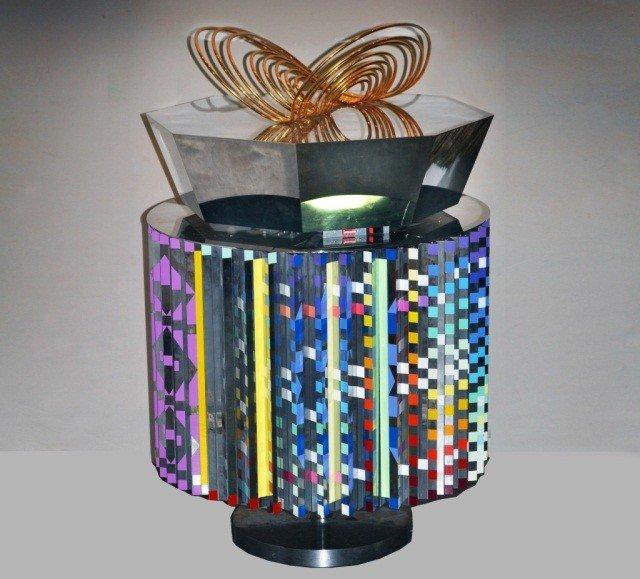 Yaacov Agam Kinetic Sculpture Table