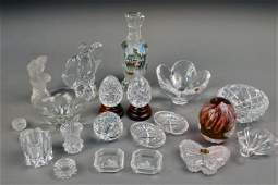 Assorted Group of of Glass Table Decorations