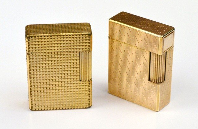 245: Two S.J. Dupont Gold Tone Lighters