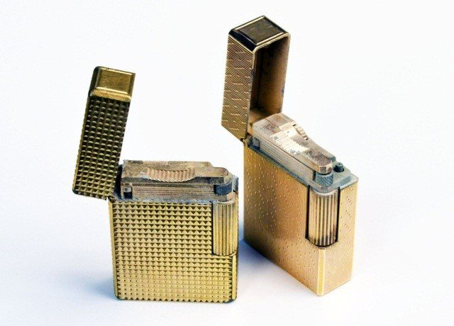 245: Two S.J. Dupont Gold Tone Lighters - 2
