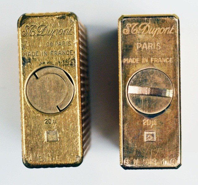 245: Two S.J. Dupont Gold Tone Lighters - 3