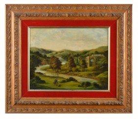 2: English School  Artist Painting Landscape
