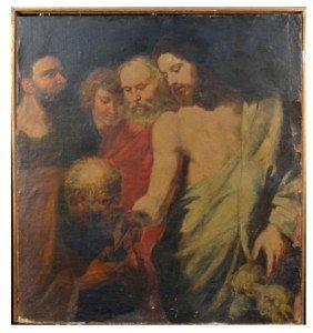 Italian School  Christ With Beggar