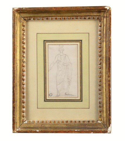 8: H. Robat (1733-1808), Drawing of a Man in a Toga