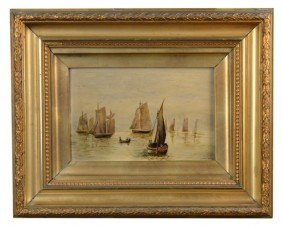 13: W.M. Fleming Painting of Sail Boats