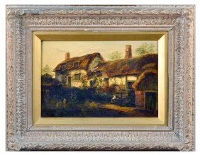 14: Raymond Dearn Painting of Cottage