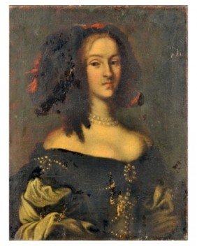 Continental School (19th C.)  Portrait Of A Lady