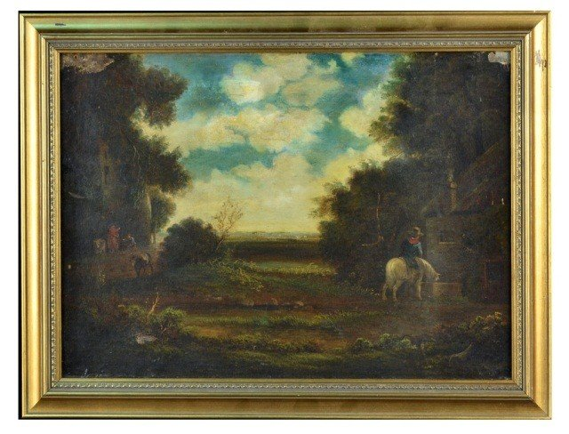 18: Continental School (19th c.) Ranchers in Landscape
