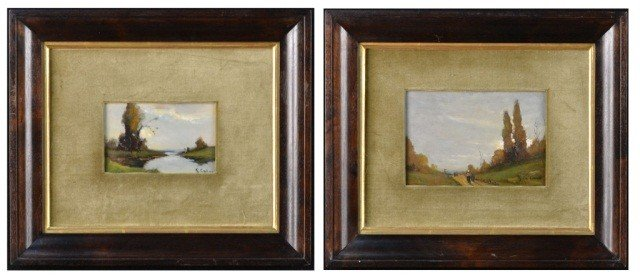 20: Giovanni Colmo (1867-1947) Pair of Landscapes