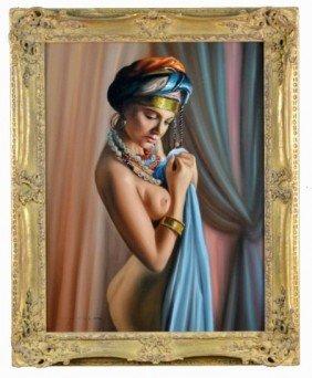 Italian School (20th C.) Portrait Of A Female Nude