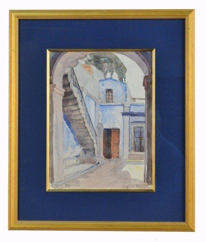 50: Mary H. Peixotto (Am., 1869 - 1956) Street Scene