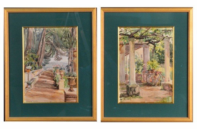 51: Mary Peixotto (Am., 1869-1956) Pair of Watercolors
