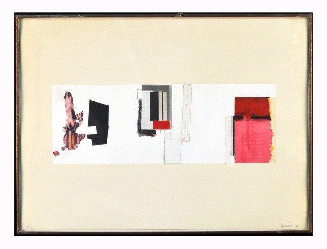 52: F. García Ponce (Mex,1933-1987) Geometric Abstract