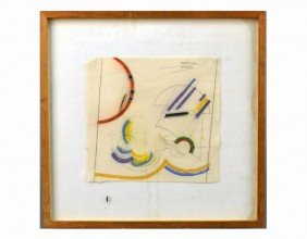 Clayton Mitropoulos (Am, 1953)  Abstract Drawing