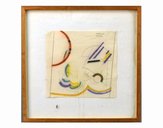 58: Clayton Mitropoulos (Am, 1953)  Abstract Drawing