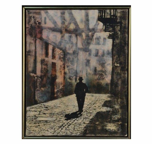 59: Franco Minei (It., 1922) Night Street Scene