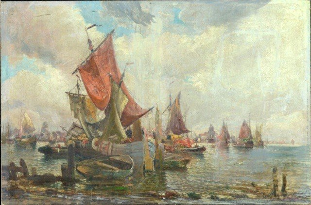71: European School  Harbor Scene